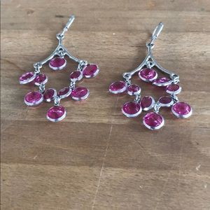 Pink and Silver Earrings